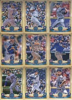 2019 Gypsy Queen Baseball Chicago Cubs Team Set of 11 Cards: Kyle Schwarber(#4), Anthony Rizzo(#32), Ian Happ(#68), Willson Contreras(#79), Kyle Hendricks(#83), Albert Almora Jr.(#91), Kris Bryant(#100), Francisco Arcia(#117), Javier Baez(#155), Yu Darvish(#182), Jason Heyward(#272)
