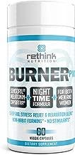 Rethink Nutrition BurnerPM - 60 Caps, Nighttime Formula, Sleep Aid, for Women and Men, with Ashwagandha, Melatonin, CapsiAtra, Vitamin C and L-Theanine