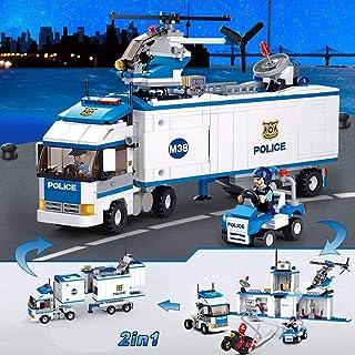 Building Blocks Multi-Functional Assembling Toys Inserting Blocks Transforming Toys Mobile Police Station Model 572 Blocks