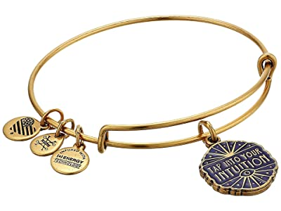 Alex and Ani Tap Into Your Intuition Charm Bangle (Rafaelian Gold) Bracelet