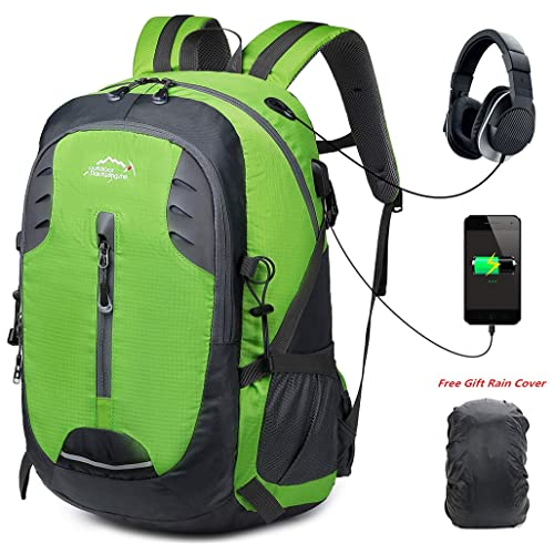 30L Lightweight Hiking Backpack Trekking Rucksacks Travel Daypack 15Inch  USB Laptop Outdoor Backpacking Sports Bag Waterproof 52c43716661e7