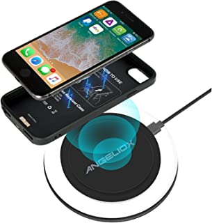 """Wireless Charger Set for iPhone 7 Plus/6 Plus/6s Plus(Only for Plus Size), With Wireless Charging Pad and 5.5"""" Qi Wireless..."""
