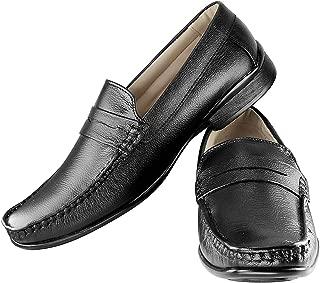 Tapps Men's Genuine Leather Formal Slip On Shoes