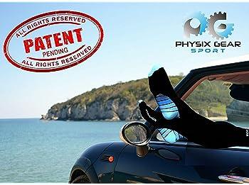 Physix Gear Sport Compression Socks for Men & Women 20-30 mmHg - Athletic Fit