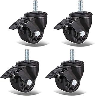 Zwenkwielen Zwaar uitgevoerde meubelzwenkwielen Dubbel gelagerde industriële zwenkwielen, vervangende nylon wielen voor we...