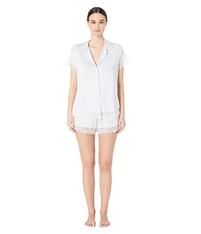 Eberjey Womens Malou The Lace Short Pj Set Pajama Set