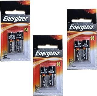 3x Energizer E90-BP-2 N 1.5V Alkaline Batteries Replaces R1, 23023A, 4001, 5U076, DRY1390, DURMN9100B2, E90, EVRE90BP2, 810, 910A, 910D, AM5, E90, LR1SG, MN9100, N, GP910A, KN, KN2, LR01, LR1, LR1N