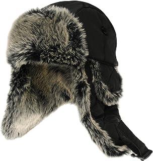 Firetrap Unisex Quilt Trapper Hat Black