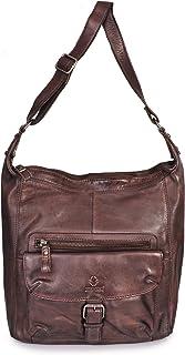 DONBOLSO Handtasche Paris I Damenhandtasche aus Nappaleder I Vintage Umhängetasche I Schultertasche mit Schlüsselband