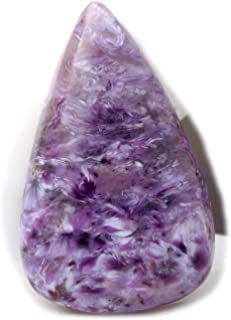 The Best Jewellery Charoite cabochon, 28Ct Natural Gemstone, Pear Shape Cabochon For Jewelry Making (32x20x6mm) SKU-15002