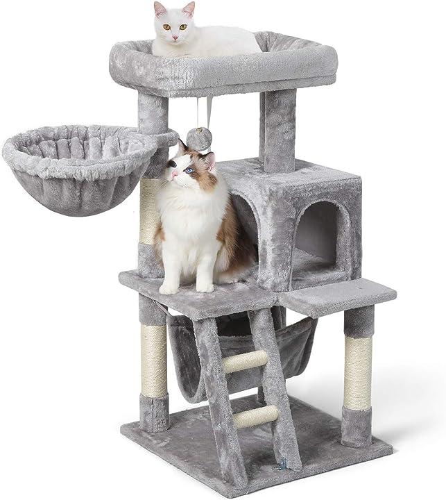 Tiragraffi per gatti alto 99 cm albero tiragraffi per gatti adulti rabbitgoo DXXMPJ01GR20CW-NEW-DT-QO-AU