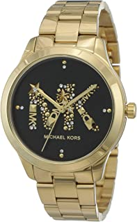 Michael Kors Women's Runway Quartz Watch with Stainless Steel Strap, Gold, 18 (Model: MK6682)