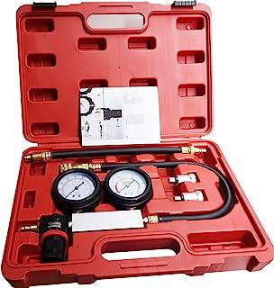 LEIMO Cylinder Leak Down Tester,Compression Test kit -Engine Cylinder Dual Gauge Leakdown Tester kit Diagnostics Tool