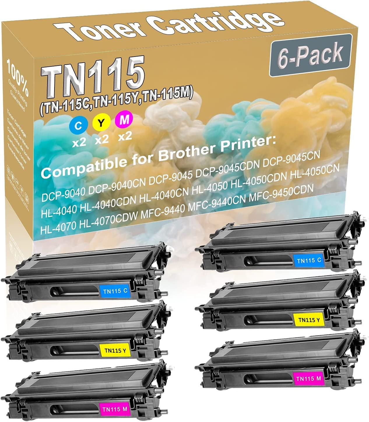 6-Pack 2C+2Y+2M Award-winning store Compatible DCP-9040 DCP-9045 4040CDN HL-4040 New product!!