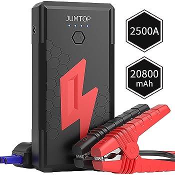 24000mAh 800A Peak Impermeable Arrancadores de bater/ía de Coche Booster MUXIN 12V/&24V Arrancador de Coches Port/átil para Todos los Motores de Gas y Diesel Arranque Bater/ía Jump Starter con Luz LED