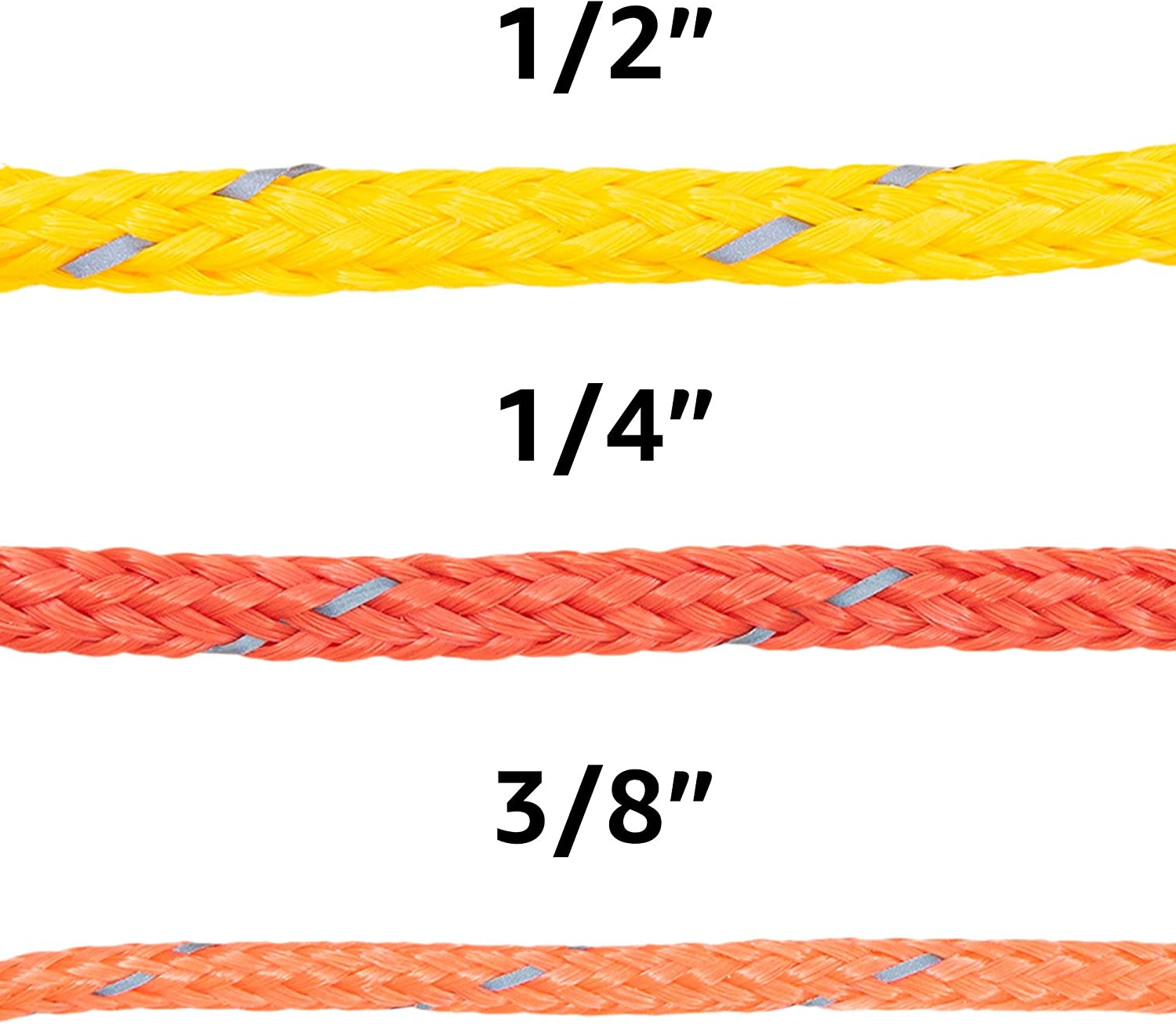High Grade for Outdoors Crafting Concerts SGT KNOTS Hollow Braided Polyethylene Rope 1//4 x 25ft Coil, Red