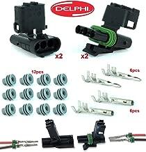 Delphi Packard 2 Completed Set (3 Circuits) Weatherpack, Waterproof, Terminal Kit 14, 16 AWG