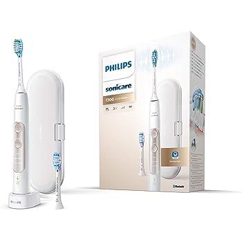 Philips Sonicare ExpertClean 7300 Elektrische Zahnbürste HX960103, mit Schalltechnologie, Andruckkontrolle, Reiseetui, weiß