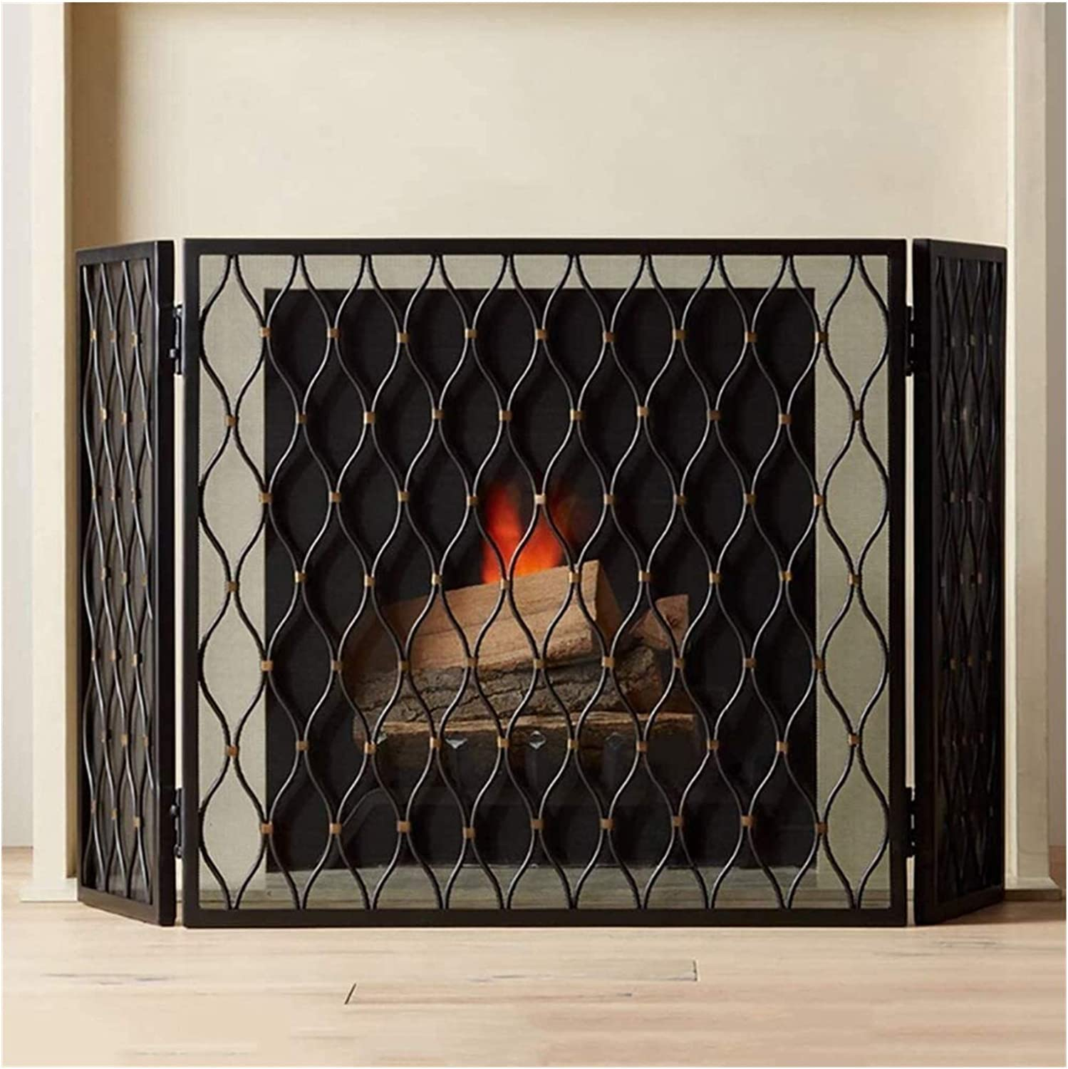 WANGLX Limited price sale Indoor Fireplace Screen Decor Finally popular brand Place Fence Fire