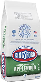 Kingsford Original Charcoal Briquettes with Applewood, BBQ Charcoal for Grilling - 16 Pounds