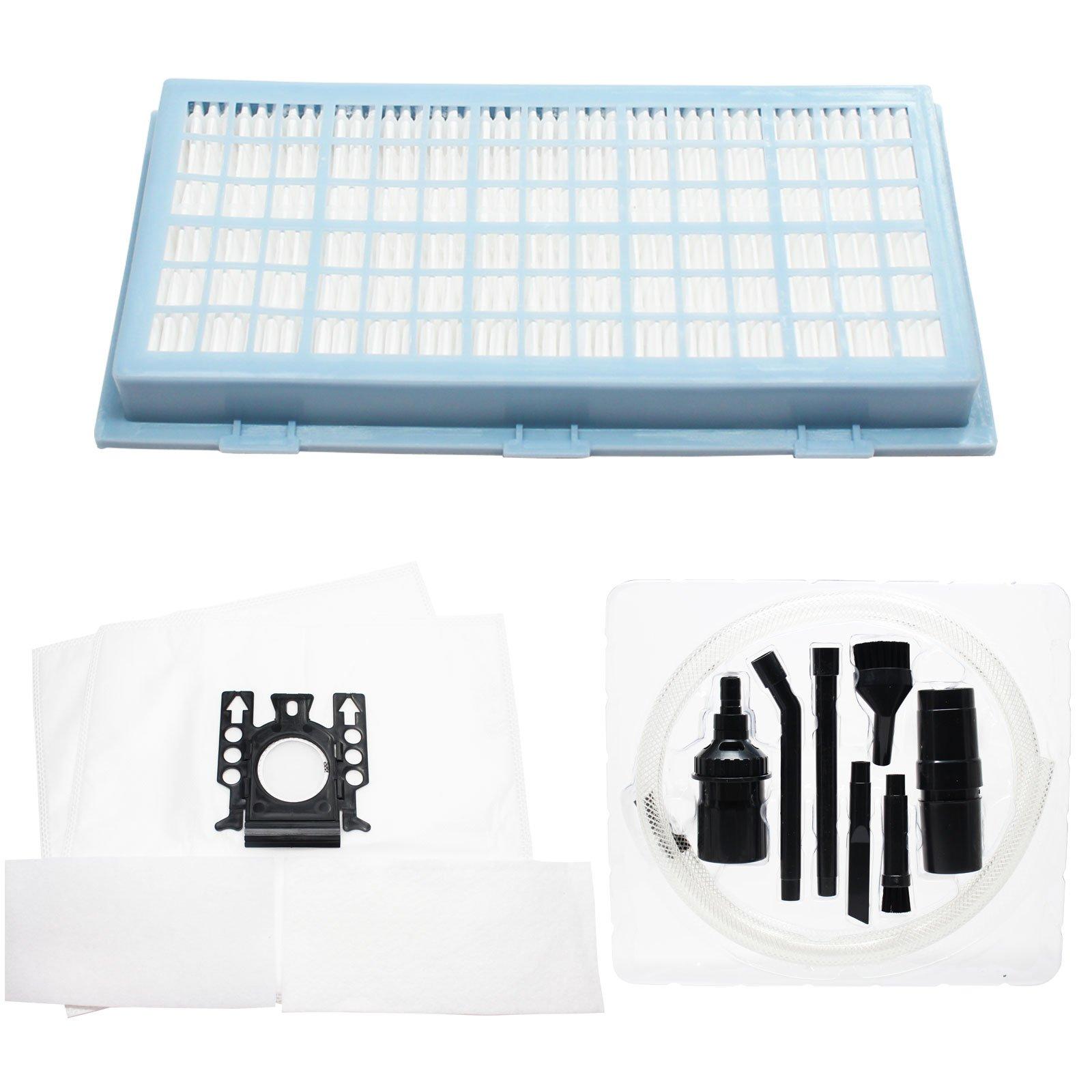 2 Filtros Miele s381 bolsas de vacío, 2 Micro de repuesto y 1 filtro HEPA – Kit
