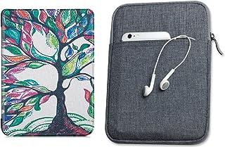 Capa Kindle 10ª geração com iluminação embutida Árvore Florida - Função Liga/Desliga - Fechamento magnético + Bolsa Sleeve...