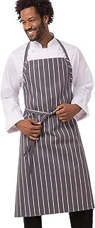 Chef Works Men's A100-BCS English Chef Apron, Black Chalk Stripe
