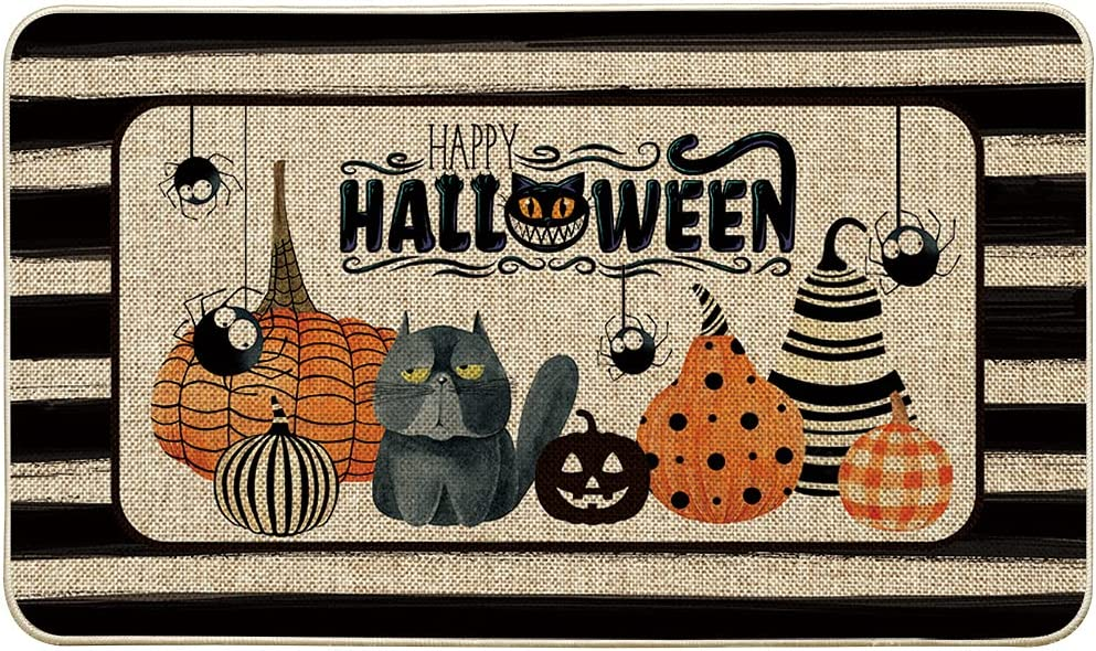 Artoid Mode Outlet SALE Watercolor Stripes Trick Max 53% OFF Treat Happy Halloween De Or
