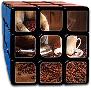 Cyclone Boys 3x3 Marvellous Speed Cube Sticker Coffee And Health Nature Magic Cube 3x3x3 Puzzles Toys (56mm)