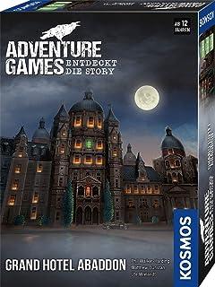 KOSMOS 693190 Adventure Games – Grand Hotel Abaddon. Upptäcker Story, samarbetsspel för 1 till 4 spelare från 12 år, spänn...