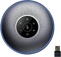 Bluetooth Speakerphone - eMeet M2 Gray Conference Speakerphone for 5-8 People Business Conference Call 360º Voice Pickup 4AI Microphone Self-Adaptive Conference Speakerphone Skype, Webinar, Phone