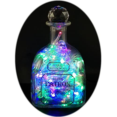 The Bottle Upcycler Upcycled Patron Tequila Mood Therapy Liquor Bottle Light with Multi-color Leds