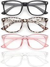 Gaoye 4-Pack Blue Light Glasses, Anti UV Ray/Glare Lens Fashion Fake Frames Computer Gaming Glasses for Women Men