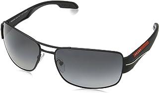 برادا نظارة شمسية مستطيل للرجال - رمادي