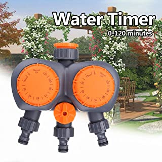 Hose Water - 2 Head Automatic Electronic Water Timer Valve Mechanical Timing Flow Switch Garden Irrigation - Garden Timers Programmable Controller Solar Timer Orbit Water