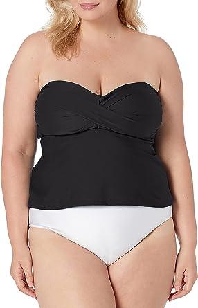 Catalina Women's Swim Women's Plus-Size Twist Front Bandeau Tankini Swimsuit