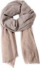Forte Women's Cashmere Blend Colorblock Scarf/Wrap Fawn- OS