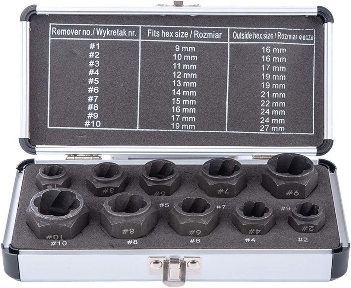 Impact Nut Bolt ExtractorTool Set Re Great Long-awaited interest 10 Pieces