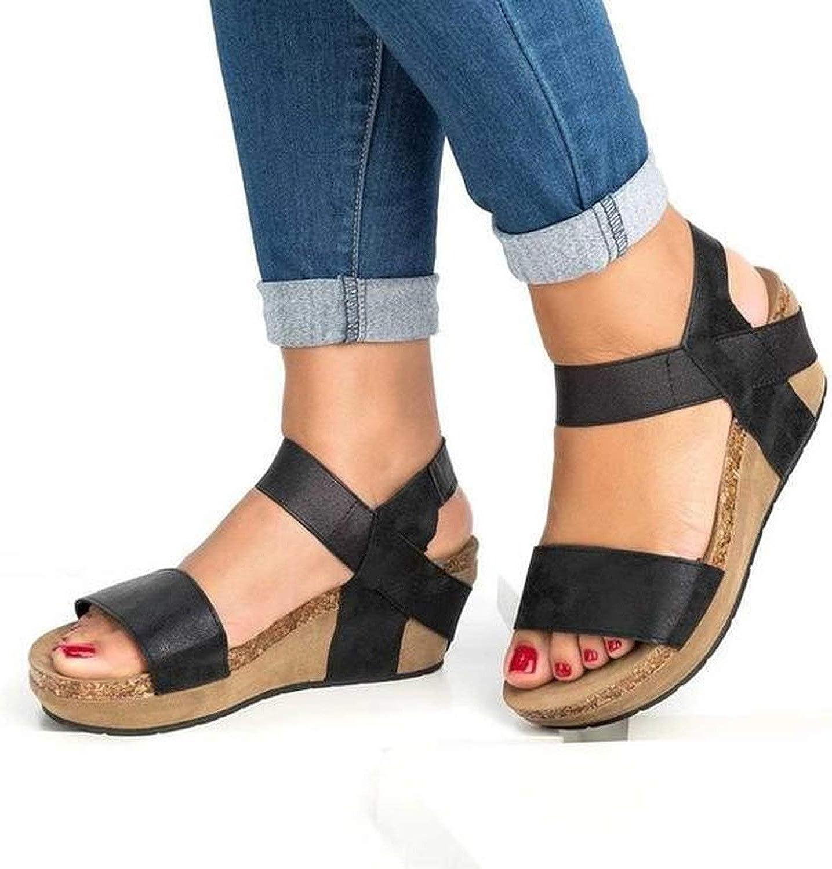 Lewis Pitman Solid Summer Platform Sandal Ankle Strap Open Toe Women Sandals Back Strap shoes