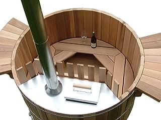 Cedar Wood Hot Tub Plans DIY Outdoor Spa Bath Relax Woodworking