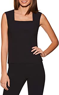 Women's Wrinkle-Resistant Basic Sleeveless Cropped Solid Color Knit Shell Top
