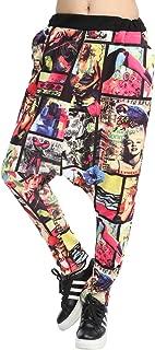 Women Baggy Harem Drapes Color-Block Pants OneSize GM274