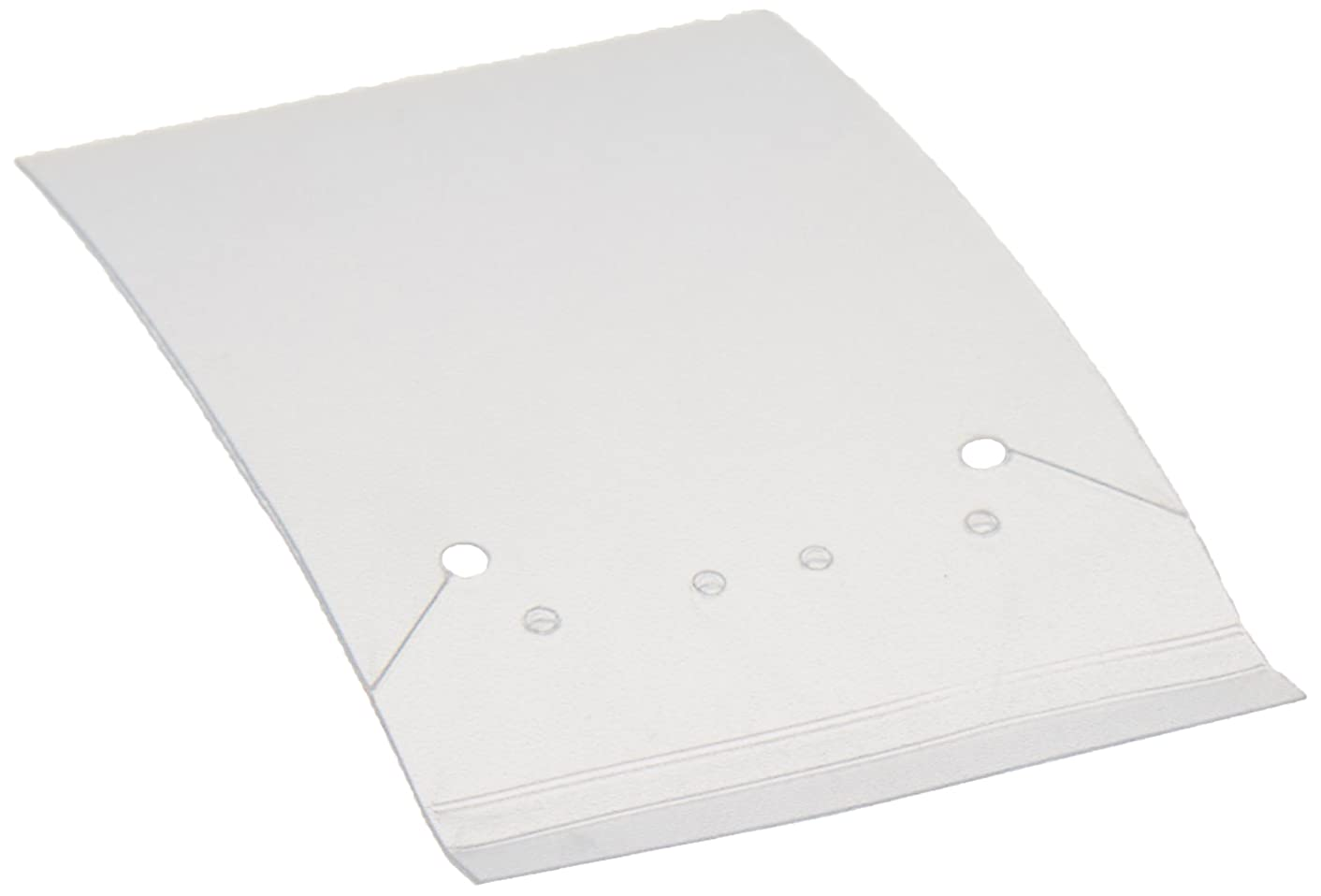 Darice 84-Piece Plastic Jewelry Card, 3/18  by 2-1/6-Inch, White
