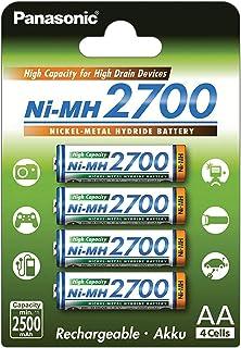 Panasonic High Capacity, accu Ni-MH 2700, AA Mignon, 4-pack, min. 2700 mAh, accu met hoge capaciteit met extra sterke capa...
