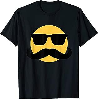 Big Mustache Hipster with Sunglasses Emoji t-shirt