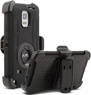 ULAK Note 4 Case, Galaxy Note 4 Case, Knox Armor Heavy Duty Shockproof Protection Hybrid Rugged for Samsung Galaxy Note 4 Case Built-in Rotating Kickstand Belt Swivel Clip Holster Note 4 Case,Black