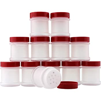Plastic Spice Bottles Jars 1 oz  Sifter Caps Lot of 5 Free US Shipping 1oz