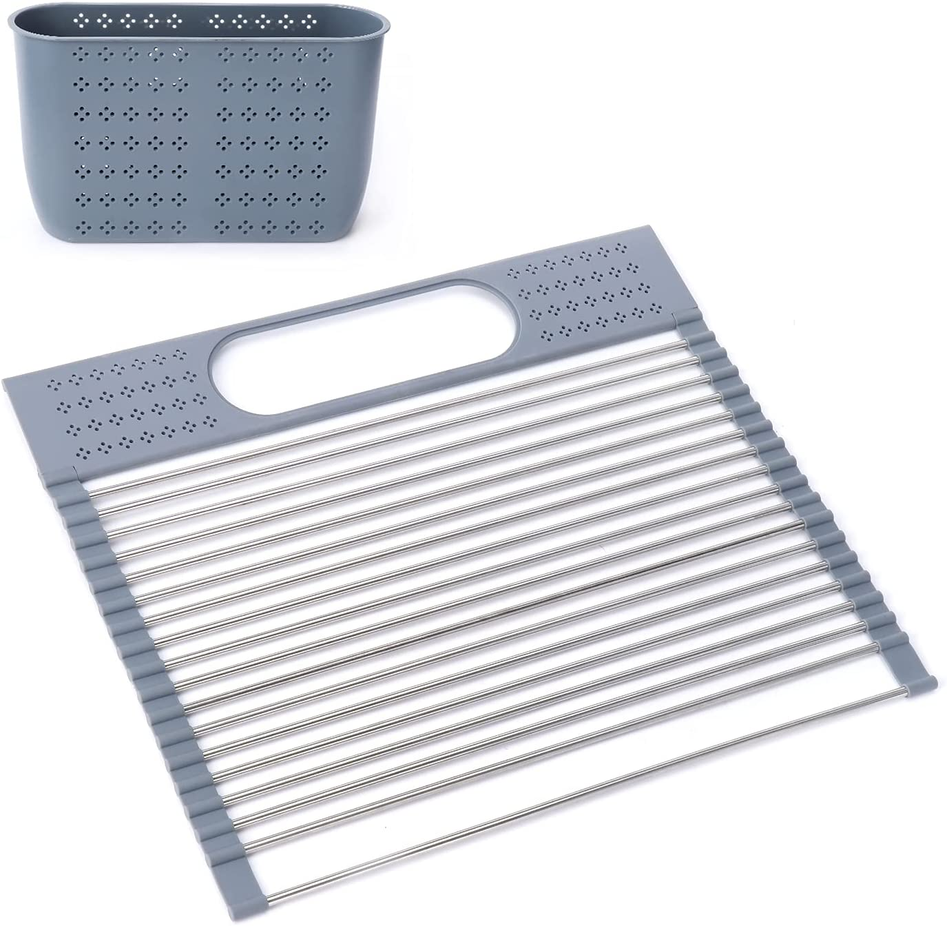 New product Roll Up Dish Drying Rack Denver Mall Over Resistant Multipurp The Sink Heat