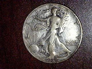 1939 P Walking Liberty Half Dollar Half Dollar F