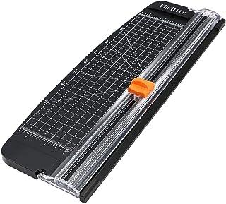 flintronic Massicot A4, Guillotine Portable Coupe-papier 38CM, Outil de Scrapbooking avec Protection de Sécurité Automatiq...
